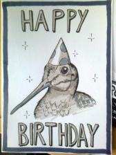 Woodcock birthday card