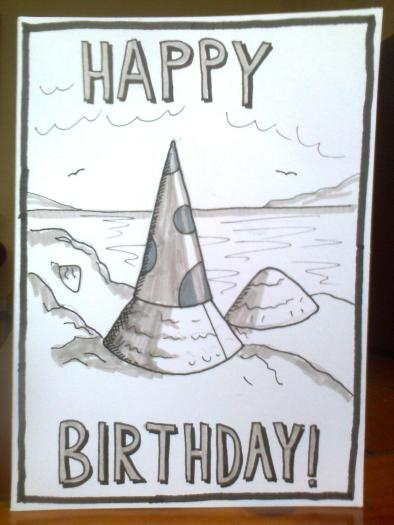 Limpet birthday card