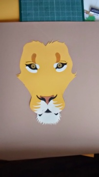 Lion (collage, WIP)