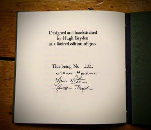 Signed by William Hershaw, Fiona Morton and Hugh Bryden